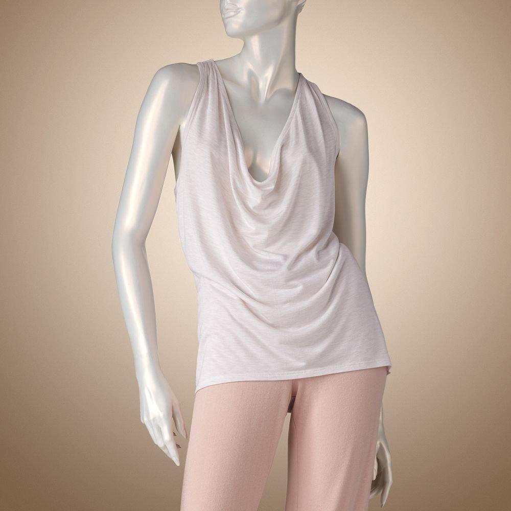 Jennifer Lopez Glamour Lounge Cowlneck Racerback Tank Sleep Shirt Sz Large L $32 NEW