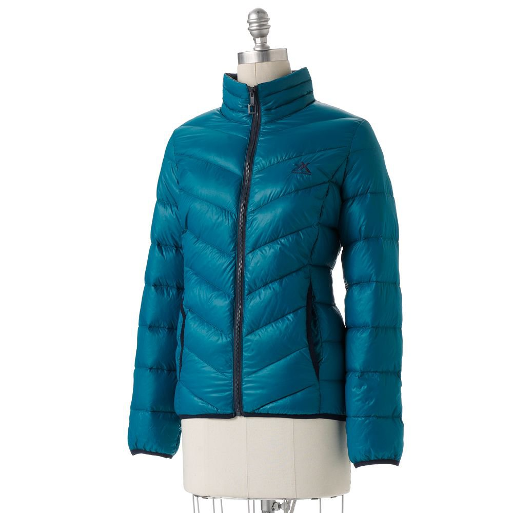 New Womens Puffer Down Coat Jacket Zeroxposur Blue Extra