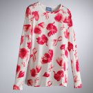 Vera Wang Womens Breast Cancer Awareness TEE T-Shirt Small or S Long Sleeves NEW