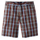 NEW Mens Plaid Shorts  Sz. 36 Flat Front Croft and Barrow $34.00
