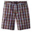 NEW Mens Plaid Shorts  Sz. 40 Flat Front Croft and Barrow $34.00