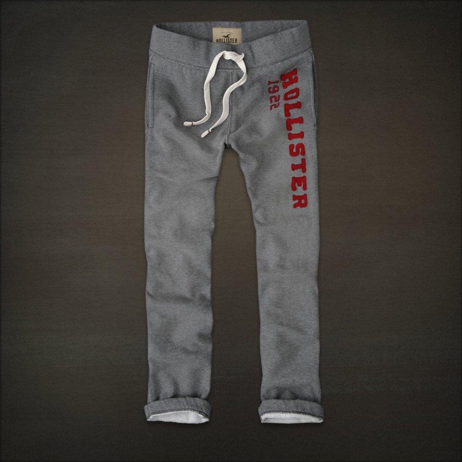 Mens Hollister Slim Straight Sweat Pants Sweatpants Dark ...