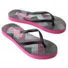 NEW Fila Geometric Breast Cancer Awareness Women's Flip-Flops Sandals Size Small 5 - 6 NEW