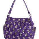 Vera Bradley Purse Handbag Shoulder Bag Reversible Tote in Simply Violet $65 NEW