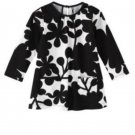 Carters Brand Toddler Girls Black White Floral LS Tunic Tee Shirt Sz. 2T NEW