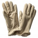 Isotoner Womens Fleece Gloves Fur Lined OSFA Camel Tan NEW $35