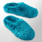 Womens Plush Clog Slippers by SO Turquoise Size Large NEW $28
