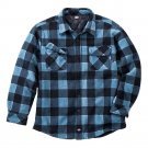 Mens Blue Plaid Dickies Fleece Overshirt Size XL or Extra Large NEW $75