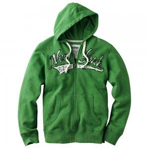 Urban Pipeline Fleece Hoodie Mens Green Hoodie Hooded Zip Front Jacket Sz Large or L $65 NEW