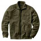 Apt 9 Slubbed Track Athletic Jacket Mens Zip Front Jacket Sz Large or L Green $70 NEW