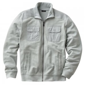 Apt 9 Slubbed Track Athletic Jacket Mens Zip Front Jacket Sz Extra Large or XL Gray $70 NEW