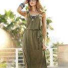 Womens Beaded Swing Cover Up Dress by Spiegel Sz Medium or M + Belt Dress NEW $50