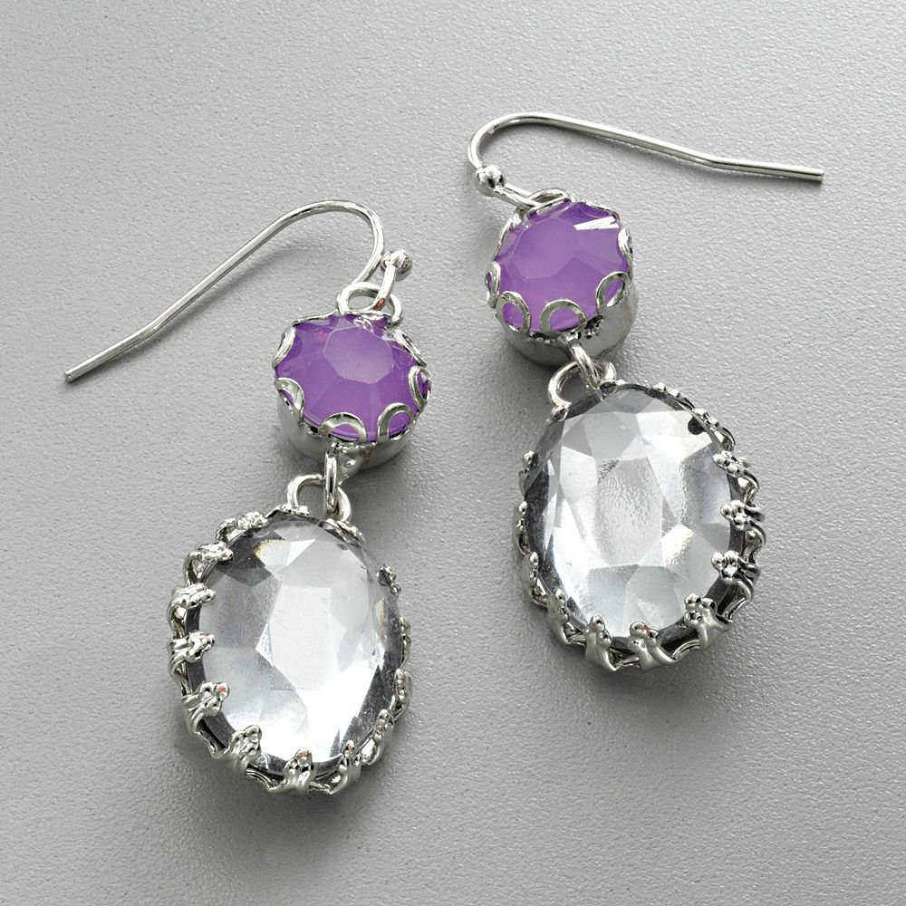 NEW Vera Wang 2 Color Silver Tone Bead Drop Earrings PRETTY FREE SHIPPING
