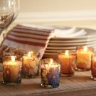 Pottery Barn Decoupage Filled Glass Votive Candle, Set of 3 NEW $19.50