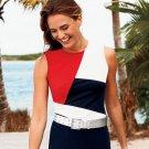 Chaps Womens Petite Large PL Colorblock Tank Top Shirt Color Block  $45.00 NEW