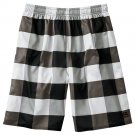 Mens Black Sz. Large L Tony Hawk Plaid Check Mesh Gym Shorts NEW $36