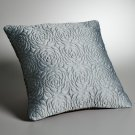 NEW Sea Breeze Square Throw Bed Pillow Vera Wang SVVW Floral Quilted $80 NEW