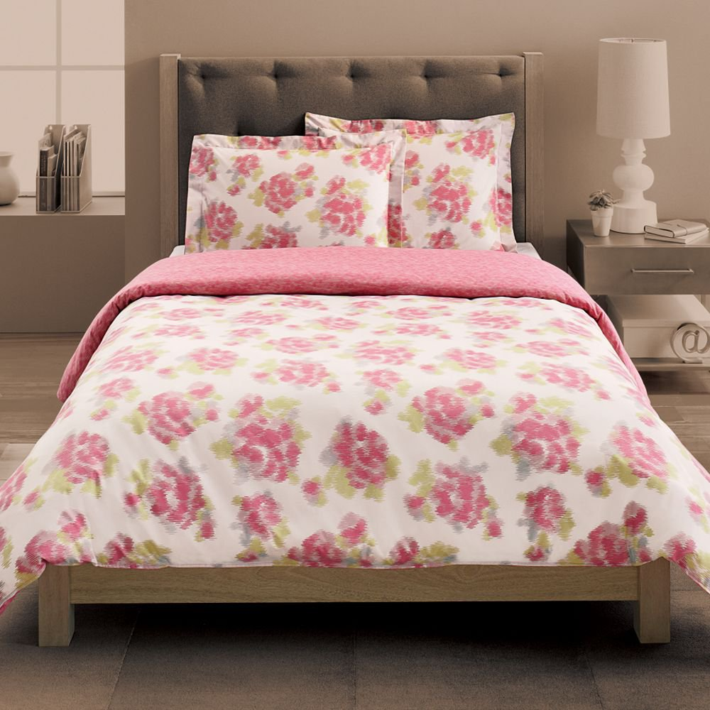 New Pink White Floral 3 Piece Twin Xl Comforter Duvet Set