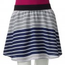 NEW Juniors Extra Large XL Striped Challis Skirt by SO Short Style Grays $30.00