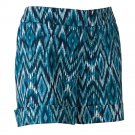 NEW Size 4 Womens IKAT Cuffed Shorts by Apt 9 BLUE $40.00 NEW