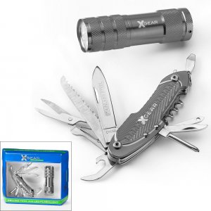 NEW Graphite X Gear Deluxe Tool & LED Flashlight Set by XGEAR $30.00