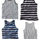 Mens Lot of 4 VANS SKATE Style Tank Tops Gray Black Blue Stripes Sz XL NEW