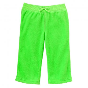 NEW Jumping Beans Neon Green Microfleece Pants Baby Size 12 Months NEW