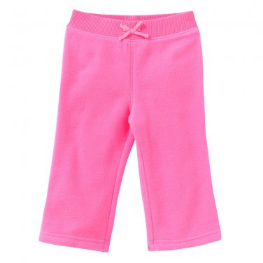 NEW Jumping Beans Neon Pink Microfleece Pants Baby Size 24 Months NEW