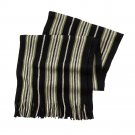 Mens Black & Green Van Heusen Raschel Stripe Knit Scarf NEW $32.00