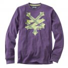 Mens Small or S Purple Zoo York Crackerbread Thermal Tee NEW $36.00