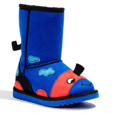 NEW Size 7 Jumping Beans Side Zipper Blue Character Boots Toddler Boys $40