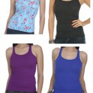 Lot of 4 Medium or M Racer Back Tanks Wet Seal Gray Purple Blue Multi NEW $27