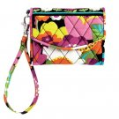 Vera Bradley Super Smart Wristlet Billfold Va Va Bloom Pattern RETIRED NEW