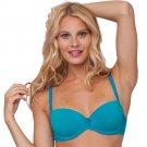 NEW 36B Turquoise Balconette Push Up Bra - Candies Brand $28.00