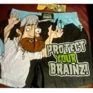 Plants Vs Zombies Protect Your Brainz Mens Boxers Boxer Shorts Small NEW