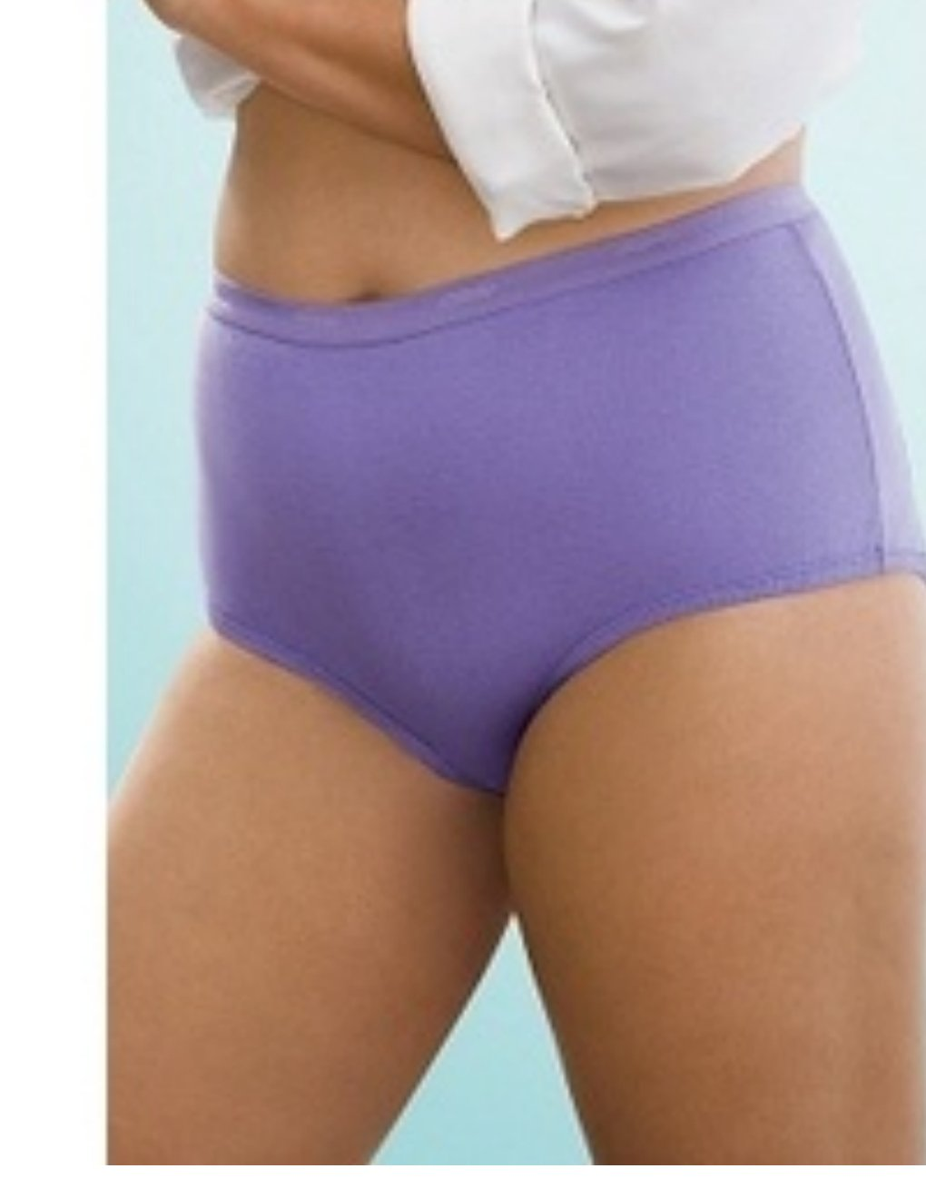 NEW Womens Juniors Playtex Body Beautiful 4 Pair Assorted Cotton Briefs NEW Size 11