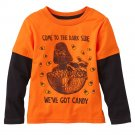 NEW 3T Orange Star Wars Candy Corn Mock-Layer Tee Shirt Toddler $16