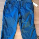NEW Petite 4 4P Denim Blue Womens Embroidered Capris by Sonoma NEW $36.00