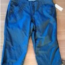 NEW Petite 6 6P Denim Blue Womens Embroidered Capris by Sonoma NEW $36.00