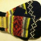 Isotoner Womens Mittens Fairisle Mittens OSFA Black & Multi NEW $28