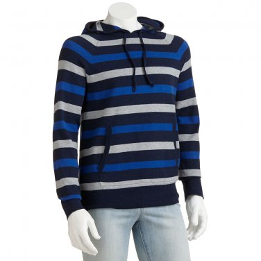 NEW Mens 2XL or XXL Navy Blue Striped PullOver by Sonoma $55.00 NEW