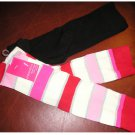 New 2 Pair Solid Stripe Knee High Socks by xhilaration Black & Pink Casual Socks NEW