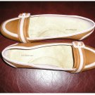NEW Croft & Barrow Flat Loafers Womens Shoes Beige Pink HEADLINE Sz 7 Loafer Slip On