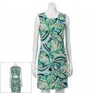 Womens Size XL Geometric Sheath Dress by Jennifer Lopez JLO Greens $60 NEW