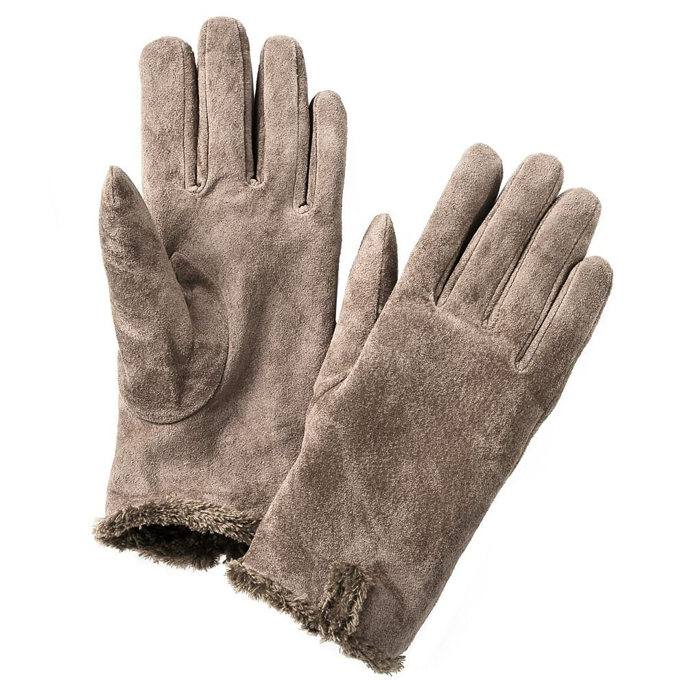 Isotoner Womens Suede Gloves XL Extra Large Medium Brown ...