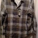 NEW Haggar Plaid Long Sleeve Casual Button-Down Shirt & Oatmeal Tee Set Size 3XL or XXXL Tan $54