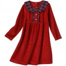 CHAPS Toddler Velour Dress Red Size 3T Ruffle Style Dress NEW $36