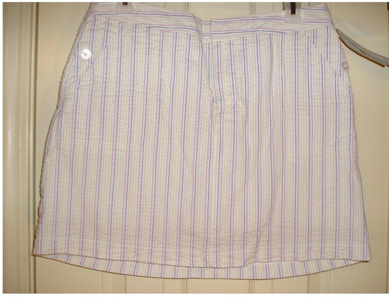 Dockers Brand Skorts or Scooter Style Short Skirt 6P NEW Seersucker