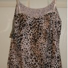 New JOCKEY Tactel Microfiber Leopard Animal Print Camisole Cami Large L NWT $20
