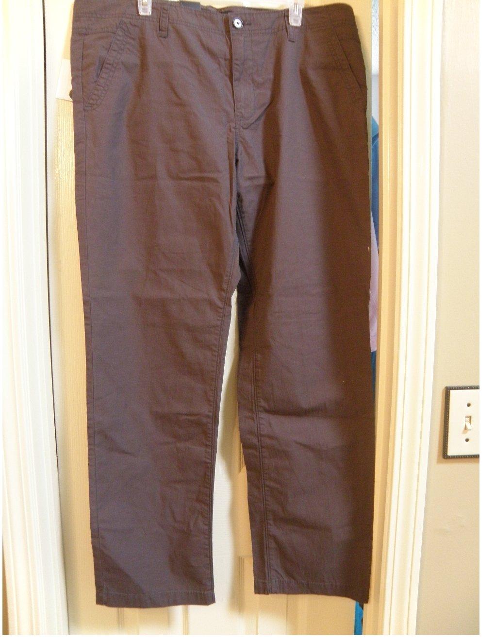 NEW Calvin Klein Jeans Lightweight Mens Pants in Brown or Debris 38 x 32 $79.50